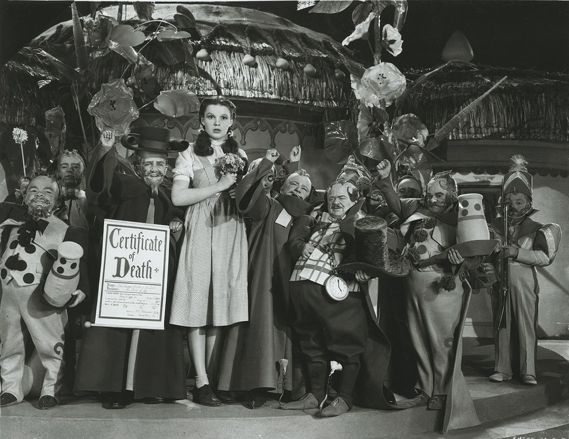 Meinhardt Raabe in a scene from The Wizard of Oz