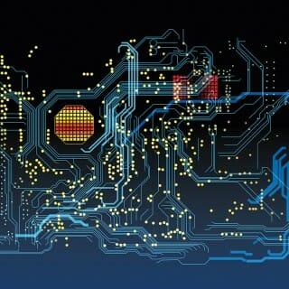 Illustration of computer circuits