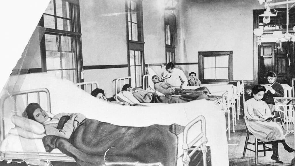 Irish immigrant Mary Mallon, seen in a New York hospital bed