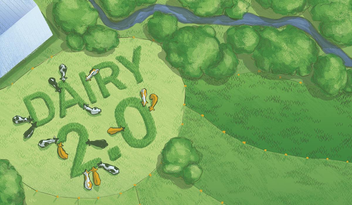 illustration of farmland