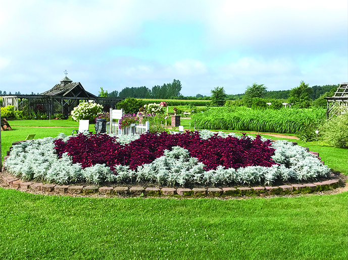 Display garden at Hancock Research Center