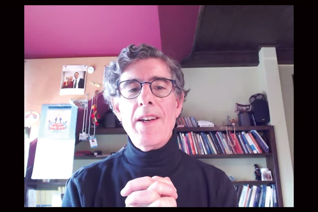 Richard Davidson on a video call