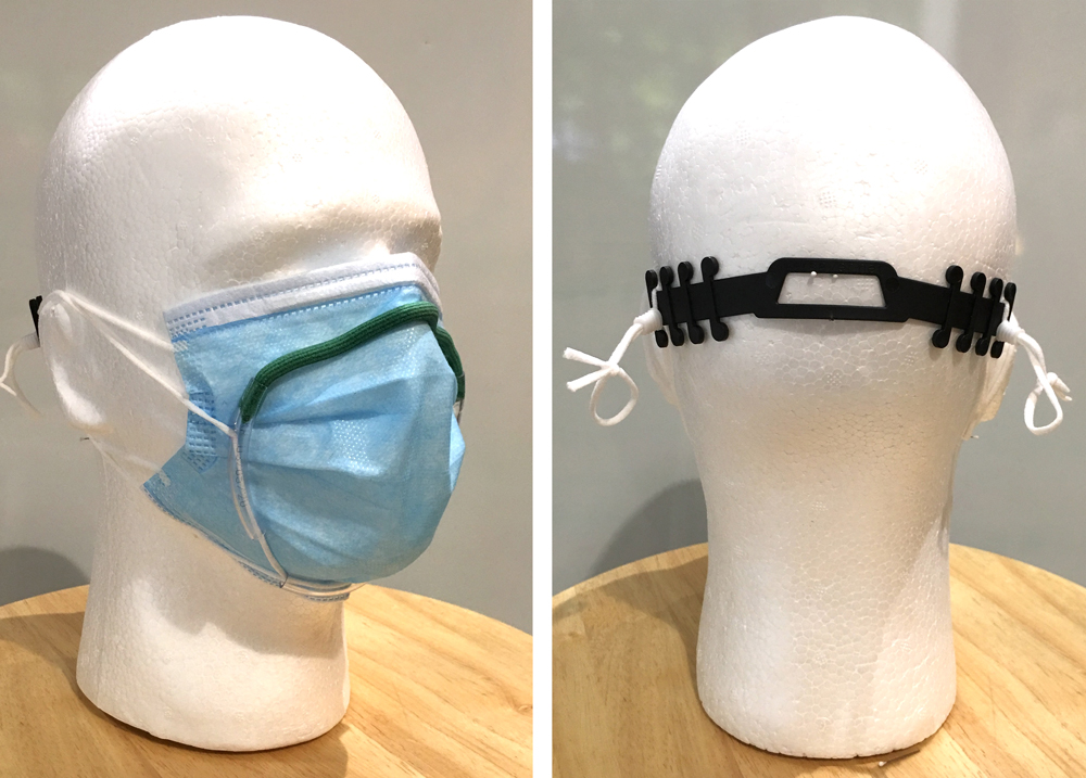 Front and back views of Badger Seal face mask