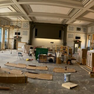 Bascom theater in the process of being refurbished
