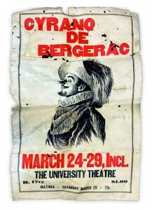 "Poster for a 1929 production of ""Cyrano de Bergerac"""