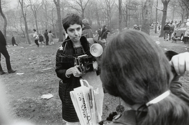 "Photo by photographer Garry Winogrand, ""Diane Arbus, Love-in, Central Park, New York City,"" 1969"