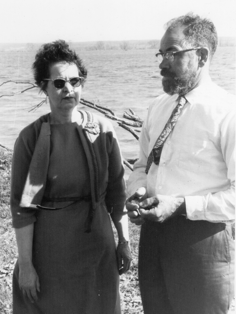 Louise Walker and her husband, Cyrus.