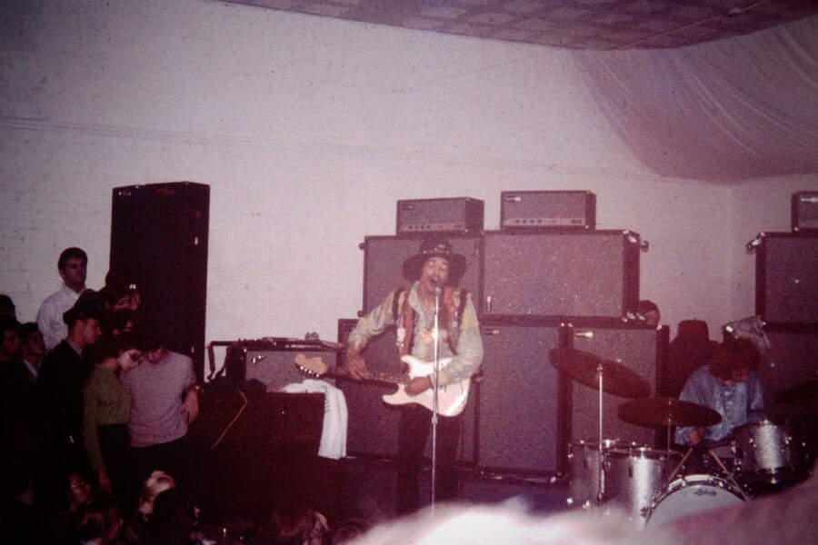 Jimi Hendrix performs at the Factory in Madison