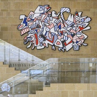 Jean Dubuffet's 15-foot-wide, 500-pound, eccentrically shaped painting Danse Élance