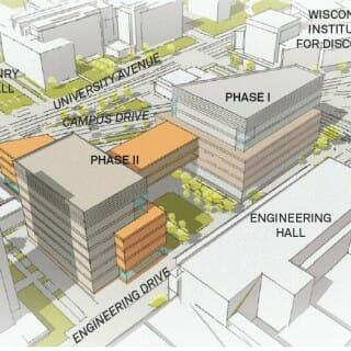 Rendering of proposed Engineering building