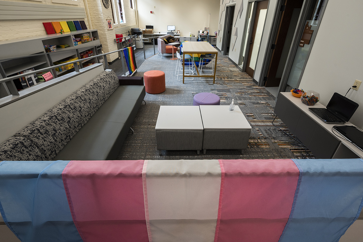 The Gender and Sexuality Campus Center inside the Red Gym