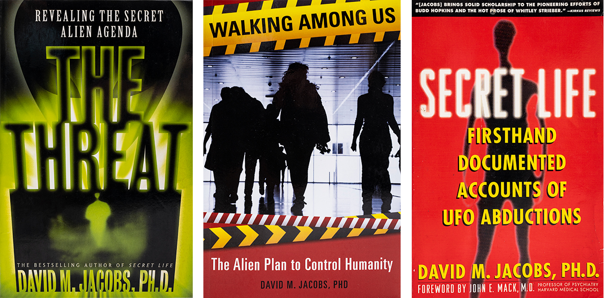 """Book covers for """"Secret Life,"""" """"The Threat,"""" and """"Walking Among Us"""""""