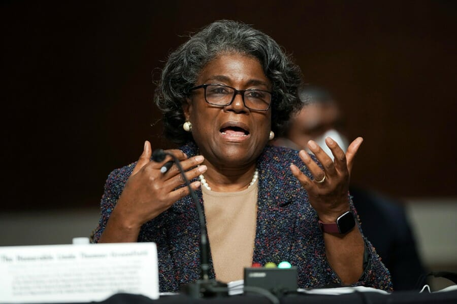 Linda Thomas-Greenfield speaks at UN