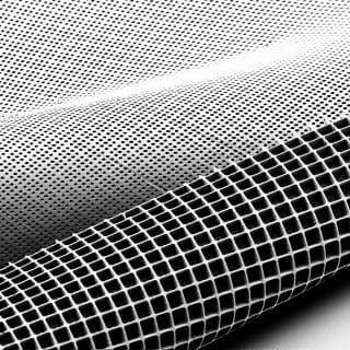 Electron microscope image of mesh-like scaffolding used for growing retinal cells.