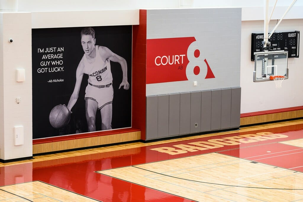 Basketball court at the Nicholas Recreational Center