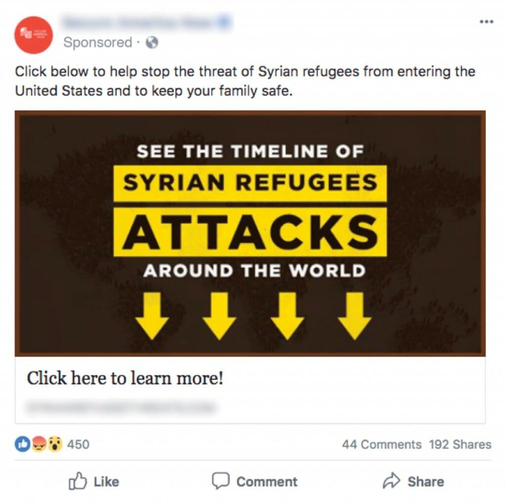 Social media propoganda ad